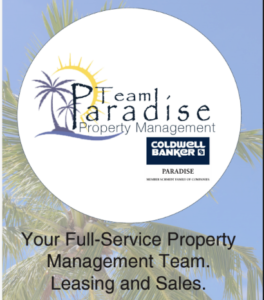 Team Paradise circle logo with sky image in background