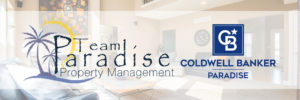 Team Paradise Property Management logo with Coldwell Banker Paradise logo